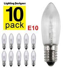10x E10 LED-Ersatzlampen Glühbirnen Topkerze für Lichterkette 10V-55V w7