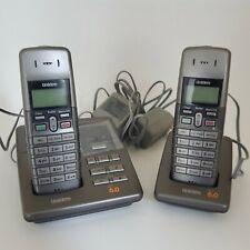 Uniden Cordless Phones 2 Handsets Bases Answering Machine Dect 1080-2 Dect 6.0