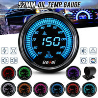 """2"""" 52mm LED Öltemperaturanzeige Anzeige Zusatz Instrument 50~150℃ + Halterung <"""