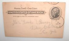 ANTIQUE 1899 ONE CENT POSTAL CARD LETTER FROM MOTHER RHEUMATISM BASE OF BRAIN...