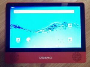 """Digiland DL9003MK 2n1 Android Tablet DVD Player 9"""" Red NOT WORKING PARENTAL ACCT"""