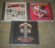 LOT OF 3 GUNS N ROSES CDS APPETITE FOR DESTRUCTION/GNR LIES/SLASH'S SNAKEPIT cd