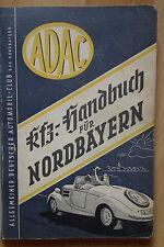 ADAC AUTOMOBILE MANUEL POUR Nordbayern 1949/50, SUPERBE PUBLICITÉ!!! automobile Oldtimer