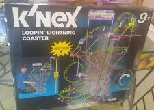 K'NEX LOOPIN' LIGHTNING ROLLER COASTER 622 PCS MOTORIZED EUC 50025/1085