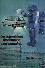 Publicité advertising 1981 Mini Metro 1300 S