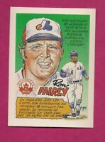 RARE 1992 NABISCO EXPOS RON FAIRLY TRADITION NRMT-MT CARD (INV# A6021)