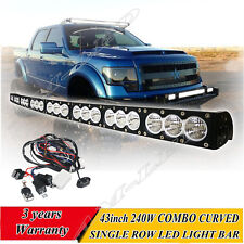 "43"" 240W Dual Color Lens CREE LED Light Bar Single Row Offroad For SUV 4x4 Lamp"