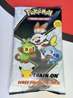 Pokemon TCG Galar Packs First Partner Pack Train On (Jumbo) - 25th Anniversary