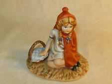 Vintage 1981 Gregory Perillo Porcelain Little Red Riding Hood Figurine