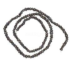 100% Natural Freshwater Pearl Loose Beads Lots Wholesales Strand Black 2-3mm