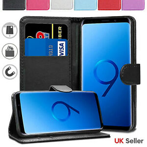 For Samsung Galaxy S9 S8 Plus S7 S6 Edge Case Cover Leather Protective Wallet