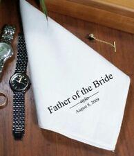 Personalised Hankie Handkerchief Father Of The Bride Son Mother Of Bride