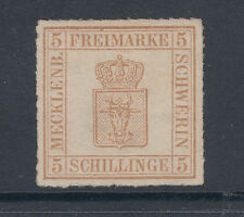 Mecklenburg-Schwerin Sc 8 MLH. 1864 5s rouletted Coat of Arms, VF+