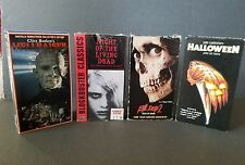 4 VHS Horror Lot Hellraiser Night of the Living Dead Evil Dead 2 Halloween
