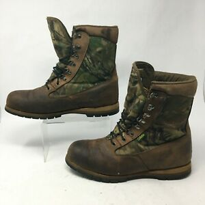 Cabela's Mens 11E Thinsulate Gore-Tex Lace Up Hunting Boots Brown Camo 9505