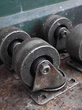 4 Ruedas De Hierro Estilo Vintage Industrial Mesa Muebles Patas Carro De Café Rueda