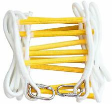 Emergency Fire Escape Rope Ladder for Homes up to 2 - 5 Storey with Carabiners