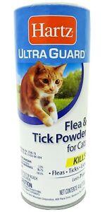 Hartz UltraGuard Flea - Tick Powder for Cats 4 oz ( 4 packs)