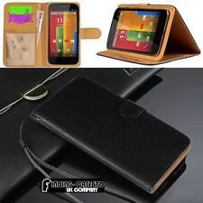 Negro Magnético Abatible Cubierta De pie Billetera Cuero Estuche Para Varios Teléfonos Motorola