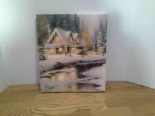 "Thomas Kinkade Canvas Print Hallmark Family at Deer Creek 12"" X 14"" New"