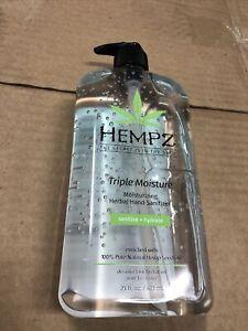 Hempz Sanitizer, Herbal Triple Moisture 21oz Brand New