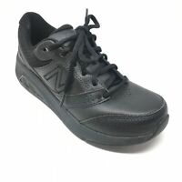 Women's New Balance 928v3 Walking Shoes Sneakers Sz 6.5B Solid Black Leather T10