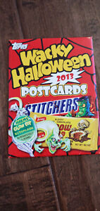 2013 TOPPS WACKY PACKAGES HALLOWEEN POSTCARD CARD SEALED SET UNOPENED W/ WRAPPER