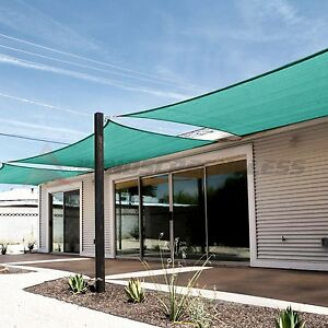 Turquoise Rectangle Sun Shade Sail Fabric Garden Patio Pool Awning Canopy Cover