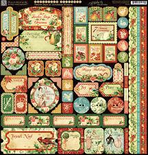 Graphic45 TWELVE DAYS OF CHRISTMAS 12x12 Sticker Sheet scrapbooking *RETIRED*