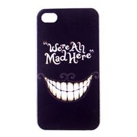 Alice in Wonderland Cat We're All Mad Here Hard Case Cover for iPhone 4 4S 5 5S