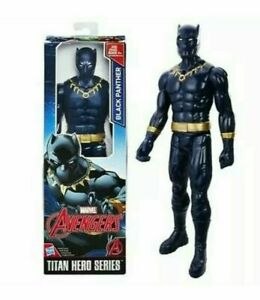 Marvel Avengers Titan Hero Series Black Panther Action Figure, 12 Inch Toy