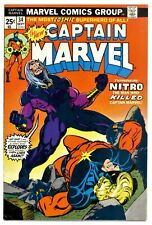 CAPTAIN MARVEL Vol.1 #34(9/74)1:NITRO(THANOS/STARFOX/DRAX/MOONDRAGON)CGC IT(NM)!