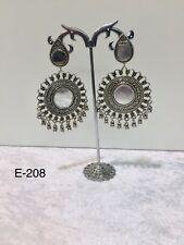 oxidised indian jewellery Mirror Long Dangle Earring Jumka Women Fashion Wear