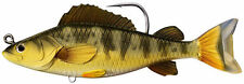 """LIVETARGET Yellow Perch Swimbait 5.5"""" GOLD OLIVE, Murray Cod Yellowbelly Barra"""