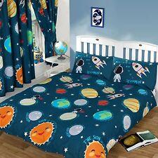 système solaire Set Housse de couette double + 168cm X 183cm rideaux en lin