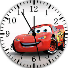 """Disney Cars Mcqueen wall Clock 10"""" will be nice Gift and Room wall Decor W63"""