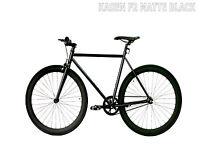 Kasen Fixed Gear Bike Fixie Matte Black 53CM Steel Frame 700C