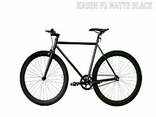 Kasen Fixed Gear Bike Fixie Matte Black 53CM Steel Frame 700C