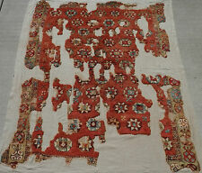 "18thC to Ca 1800. SW Anatolian CAL (Chal) ""YATAK"" Carpet Fragment. Now Conserved"