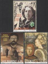 San MARINO 2004 chekhov/WILDE/PETRARCA/Scrittori/Letteratura/Libri/PEOPLE 3 V n45987