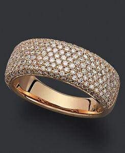 3.05ct Natural Round Diamond 14K Rose Gold Anniversary Man Band Ring Size 9