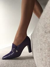"bally purple heels3"" all leather worn once sise4.5uk"