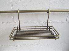 cesto per tubo portamestoli cucina sottopensile color bronzo, ottone antico