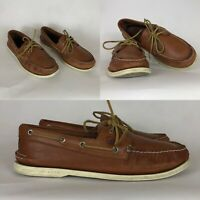 Sperry Top-Sider Men's Brown 2 Eye Boat Shoes Size 11 Tan Leather Casual