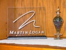 MARTIN LOGAN ETCHED GLASS SIGN / PLAQUE