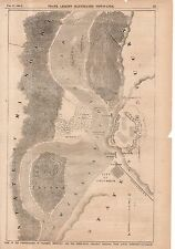 1862 Leslie's - February 22 - Map of the Fortifications of Columbus KY