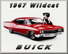 1967 Buick Wildcat Coupe, RED, Refrigerator Magnet