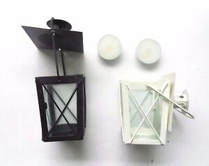 Gartner~~30 Tea Light Candle Mini Lanterns~~23 Black/ 7 White