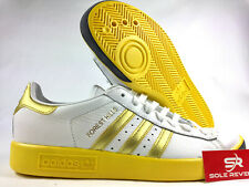 9 NEW adidas Originals FOREST HILLS CQ2083 WHITE, GOLD & EQT YELLOW Shoes x1