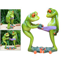 Green Frog Standing Statue Figurine Sculpture Home Table Top Desk Decor Gift